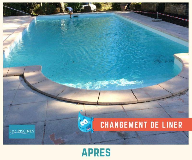 R novation piscine for Cout changement liner piscine